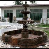 Fontana di pietra di marmo Mf-1029 di Giallo Marrone della fontana del granito