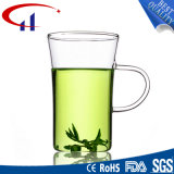 新しい極度の品質の手(CHT8603)を搭載するガラスティーカップ
