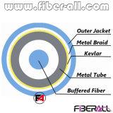 cabo 2cores blindado interno com a trança espiral da câmara de ar do metal & do metal
