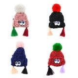 POM Pomsのカスタム方法ブローチが付いている美しい編まれた帽子