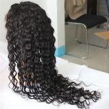 Peruca cheia do laço da peruca brasileira Kinky do cabelo de Remy da onda para mulheres