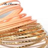 De Armbanden van de Legering van het Merk van de Luxe van de gouden-kleur Geplaatst de Juwelen van de Manier
