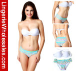 Сексуальное White Бикини Top Pretty в Patterns Bottoms Swimwear