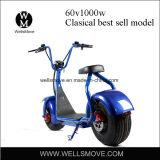 60V Elektrische Scooter van Seev Woqu Harley Citycoco van de Band van het Wiel van 1000W de Vette