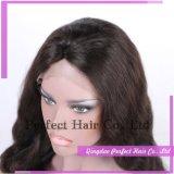 Фабрика поставляет парик шнурка чисто человеческих волос 100% прозрачный