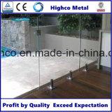 Zipolo di vetro dell'acciaio inossidabile per la recinzione del raggruppamento di Frameless