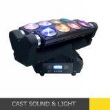 8*12W RGBW 광속 LED 거미 이동하는 헤드