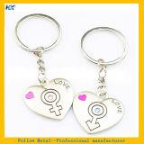 Kundenspezifische volles Metall überzogene Firmenzeichen-Marke Keychain
