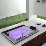 Vente chaude de chute d'eau de Monalisa de baignoire superbe intégrée de tourbillon (M-2050)