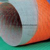 PVC構築のネットの網のための上塗を施してある耐火性の防音のメッシュ生地