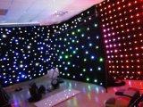RGBW LEDの空の音楽コンサートのためのきらめく星の布のカーテン、党装飾DJ LED