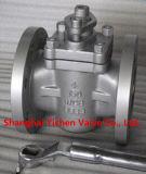 Valvola a rubinetto affusolata PTFE del manicotto dell'ANSI A216 Wcb (ZX43)