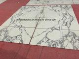 床および壁のためのイタリア白いArabascata Biancoの大理石の平板