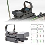 Multi-Reticle 4 Reticle Reflex Red Green DOT Sight Rifle Scope 1X22X33
