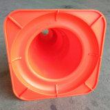 50cmヨーロッパ倍10cmの反射テープが付いている標準PPのオレンジ道路交通の円錐形
