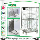 Supermercado Roll Container Cage Warehouse Storage Cage