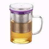 Cuvette de thé personnalisée en verre de filtre d'acier inoxydable pour des cadeaux