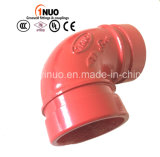 FM/UL Approval를 가진 고압 750 Psi Grooved Elbow 90 Degree