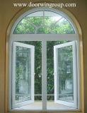 Ventana de aluminio para America Central, ventana que aterroriza de aluminio del obturador de la rotura Non-Thermal de la buena calidad para el chalet,