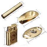 Lubinsk 4 en 1 rectángulo lleno accesorio del cigarro de lujo, incluye el alumbrador, el cenicero, el tubo y el cortador (ES-EB-006) del tubo