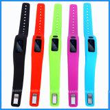 Изготовленный на заказ браслет Bluetooth вахты USB кремния/силикона Bangle пригодности/спорта шарма франтовской