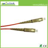 De enige Kabel van de Vezel van de Wijze Sc/FC/LC Optische, het Koord van het Flard van de Vezel