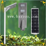 3 anos de luz solar do jardim da rua do sensor de movimento do diodo emissor de luz da garantia
