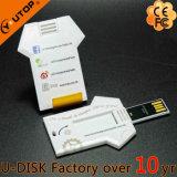 Fördernder Geschenk-Geschäfts-Kreditkarte USB mit grellem Laufwerk des Firmenzeichen-2.0/3.0