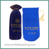 Qualitäts-Samt-Wein-Flaschen-Beutel mit Troddeln