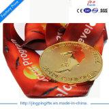 2017 ouro mais baratos do campeonato da alta qualidade feita sob encomenda/medalhas de bronze de prata do esporte com fita