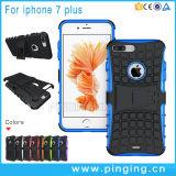 Caja híbrida a prueba de choques del teléfono de Kickstand para el iPhone 7/7 más