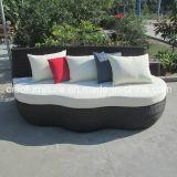 Base ao ar livre do sofá do Rattan de Brown da mobília