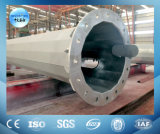 Torretta di comunicazione d'acciaio tubolare galvanizzata della grata