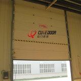 Двери гаража полной панели цвета зрения стальной промышленные секционные сползая