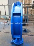 Válvula de borboleta Ductile da U-Seção da flange do dobro do ferro Dn800