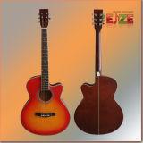 Toda la guitarra folk de madera compensada Linden con hermoso Purfling