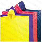 100% PVC Hooded Rain Cape / Rain Poncho for Adult