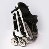 Carrinho de passeio portátil leve para carrinho de bebê azul com rodas EVA