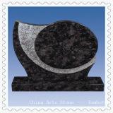 Brのスタイルのための黒御影石の墓碑