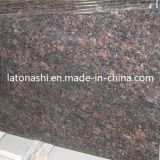 Granito de pedra natural de Tan Brown para a laje, bancada, lápide, Backsplash