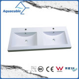 Washbasin de pedra artificial de Polymarble do gabinete