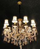 Luz de cristal moderna do candelabro da lâmpada do dispositivo elétrico de iluminação do pendente da decoração de Swarovski dos braços de Phine 18