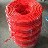 De rode Landbouw Vlakke Pijp/de Buis van pvc Layflat van de Irrigatie van het Water