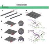 plancher imperméable à l'eau extérieur composé en plastique en bois de Decking de 140*23mm WPC