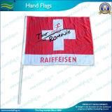 Bandeira relativa à promoção da mão do poliéster do presente para o esporte (B-NF10F01001)