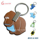 Animal de couro personalizado Keychain do elefante