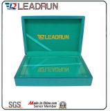 Коробка монетки кожаный сувенира коробки наличных дег коробки подарка случая собрания монетки деревянного коммеморативная (G10)