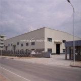 Construcción de viviendas ligera prefabricada de marco de la estructura de acero para el almacén