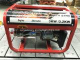 gerador silencioso portátil de cobre da gasolina de 3kw 7HP 100% para o uso Home
