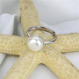 anello bianco naturale della perla di formato aperto del tasto di 10mm